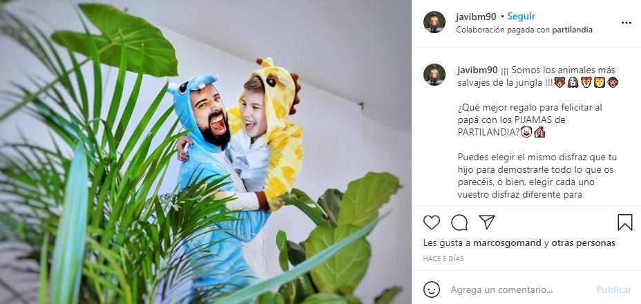 partilandia disfraz pijama influencer javibm90
