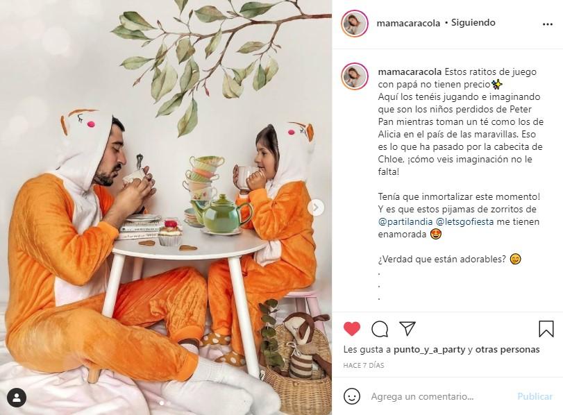 partilandia pijamas animales influencer mamacaracola