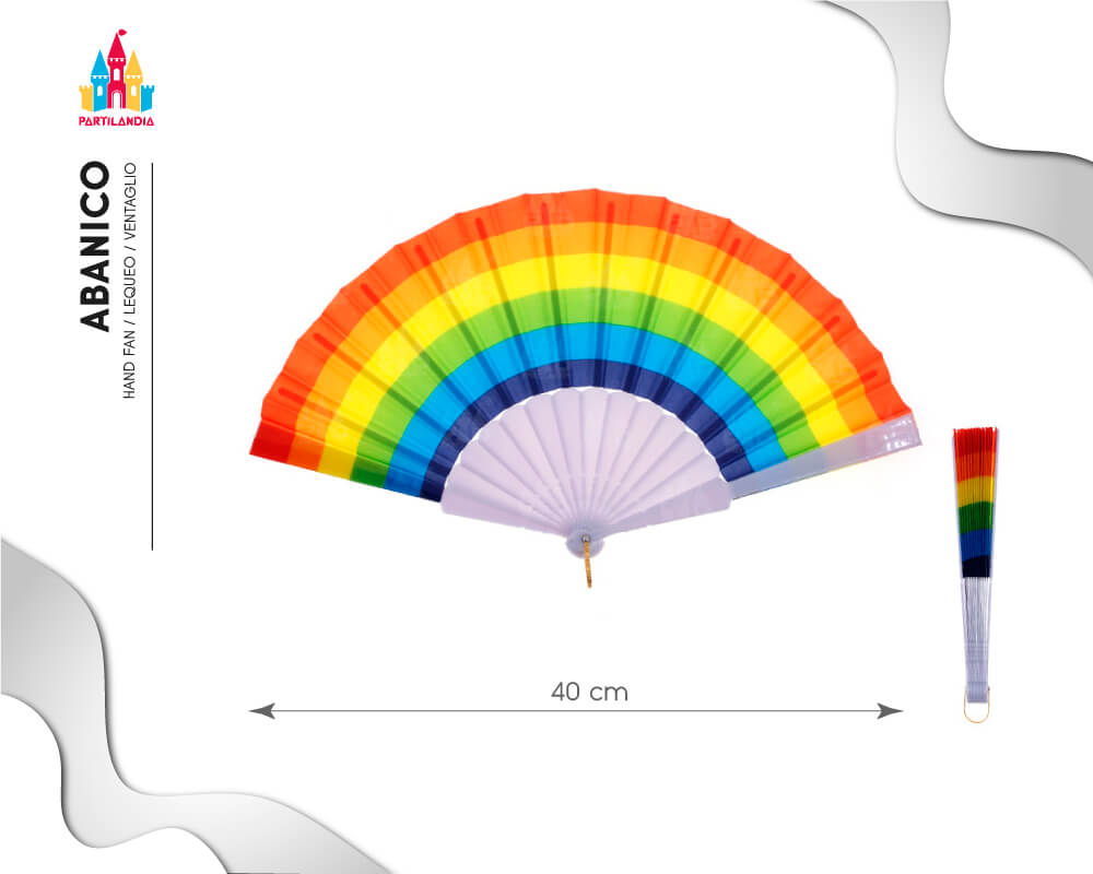 abanicos arco iris orgullo lgtbi