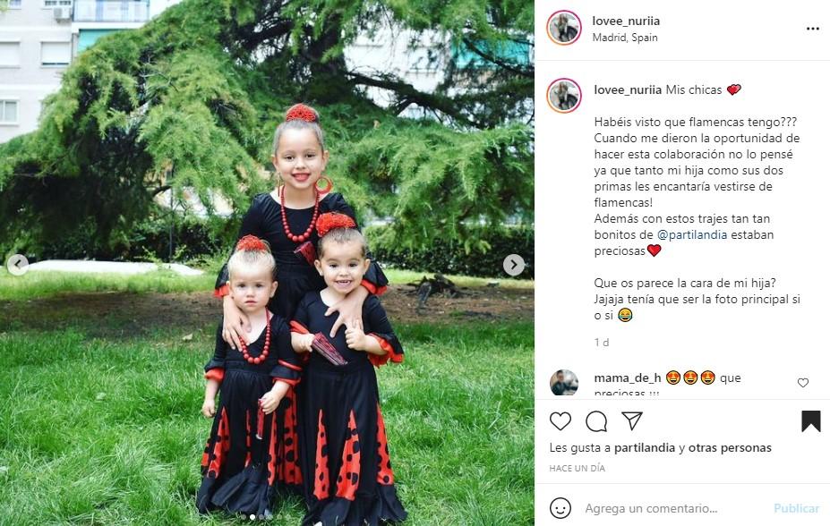 disfraz flamenca niñas Partilandia