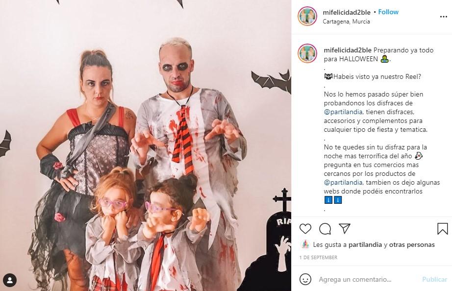 disfraces halloween zombies colegiales escolares